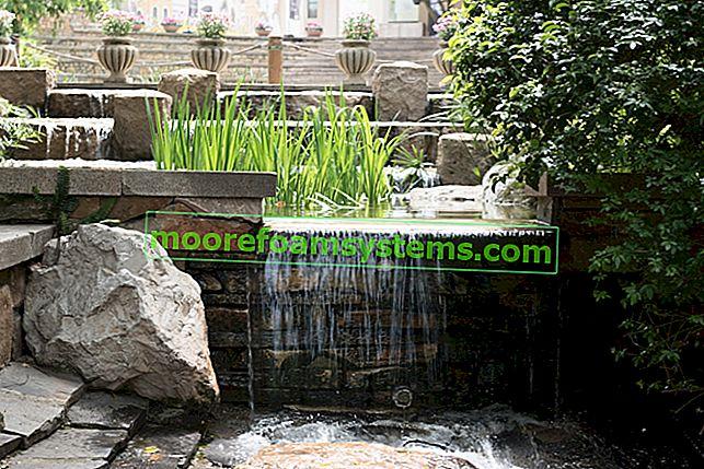Vrtne kaskade za vrt - vrste, cijene, mišljenja, praktični savjeti