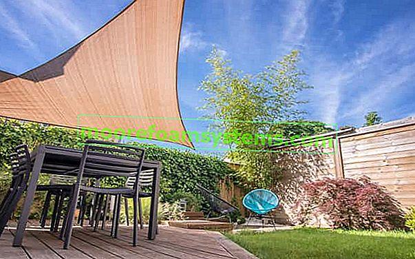 Sjenovito jedro za vrt, balkon i terasu - vrste, cijene, recenzije