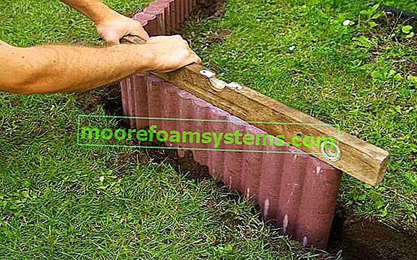 Betonske vrtne palisade - cijena, dimenzije, montaža, polaganje