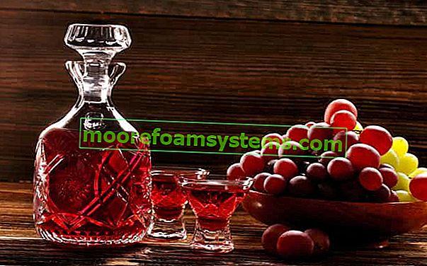 Tinktura grožđa - recepti i izvršenje korak po korak