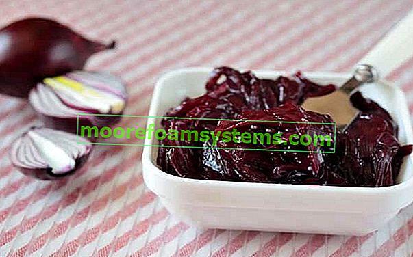 Džem od crvenog luka - recenzije, svojstva, korak po korak recept